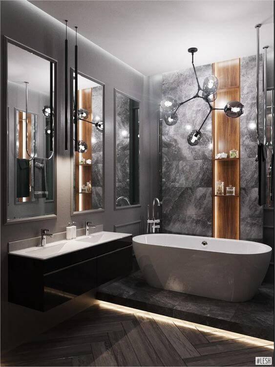 Большая ванная комната: идеи по оформлению комфортного интерьера (50 фото)