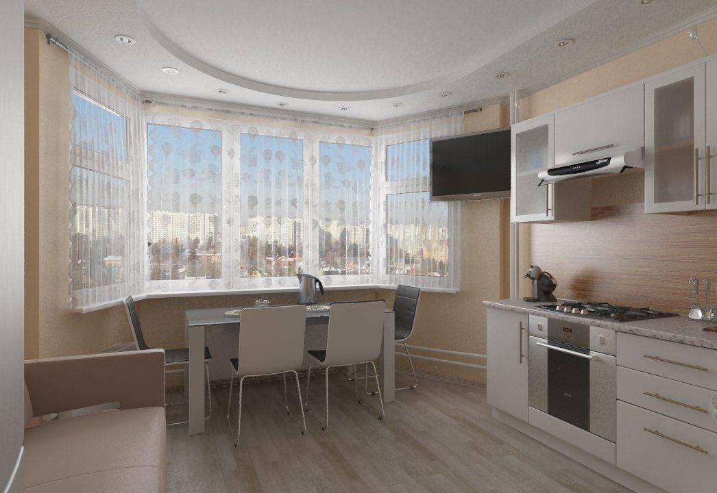 Кухня гостиная с эркером в частном доме: дизайн интерьера  - 25 фото