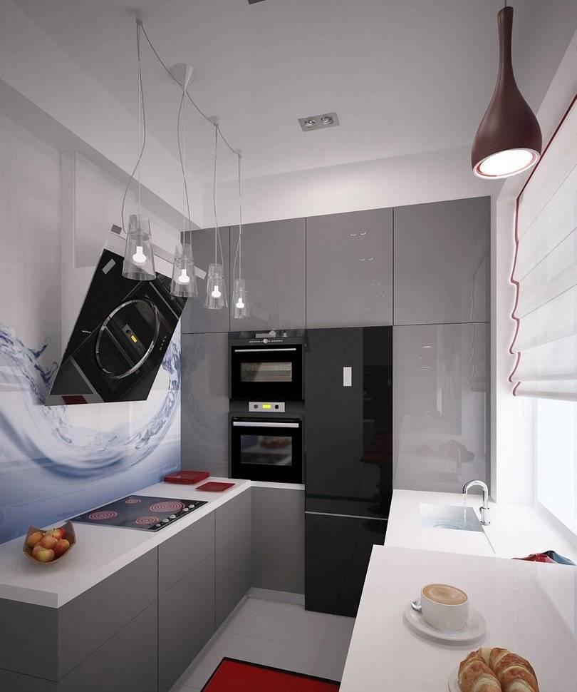 Кухня 8 кв метров: идеи планировки с балконом и холодильником  - 35 фото