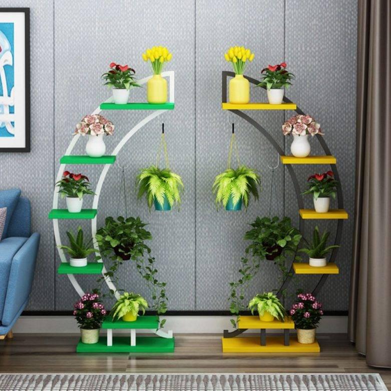 Подставка для цветов своими руками: лучшие идеи из чего и как сделать подставку (75 фото)