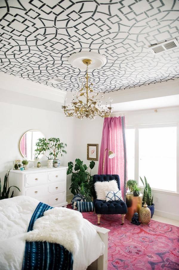 Дизайн потолка своими руками: как сделать красивое оформление в квартире из гипсокартона, пенопласта, ткани и других материалов, а также идеи, описание и фото