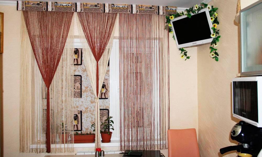 Шторы кисея (нитяные шторы) в интерьере: как выбрать, рекомендации по дизайну