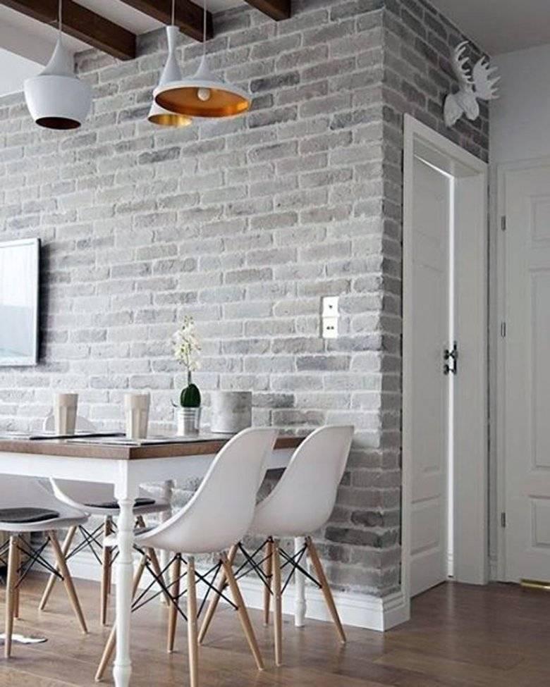 Кирпичная гостиная - 75 фото идей как красиво оформить гостиную