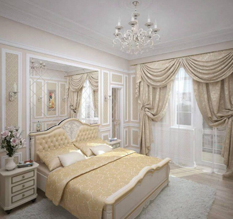 Дизайн спальни в классическом стиле - 80 фото интерьеров после ремонта, идеи отделки и оформления