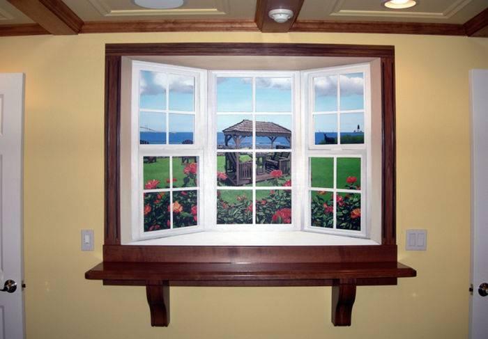 Фальш окно с подсветкой: декоративная имитация в интерьере  - 25 фото