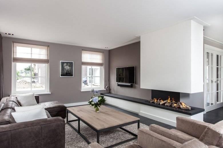 Гостиная с камином: дизайн интерьера зала, 60 фото идей в разных стилях