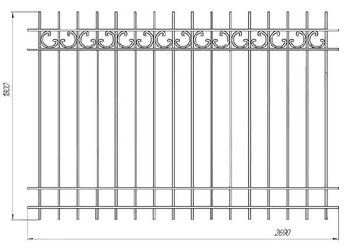 Дизайн заборов из профнастила, красивые заборы из профнастила