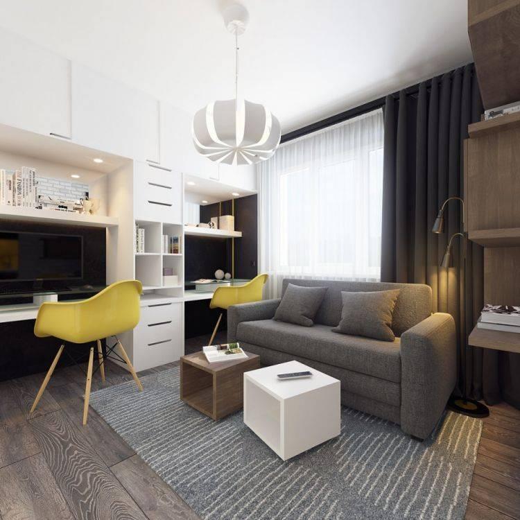 Дизайн студии 28 кв. м - планировка и примеры интерьера +50 фото