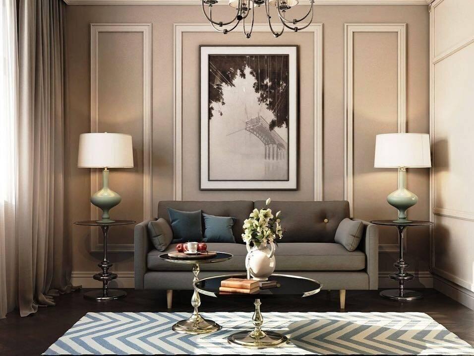Декоративные молдинги для стен в интерьере гостиной и спальни: отделка и поклейка