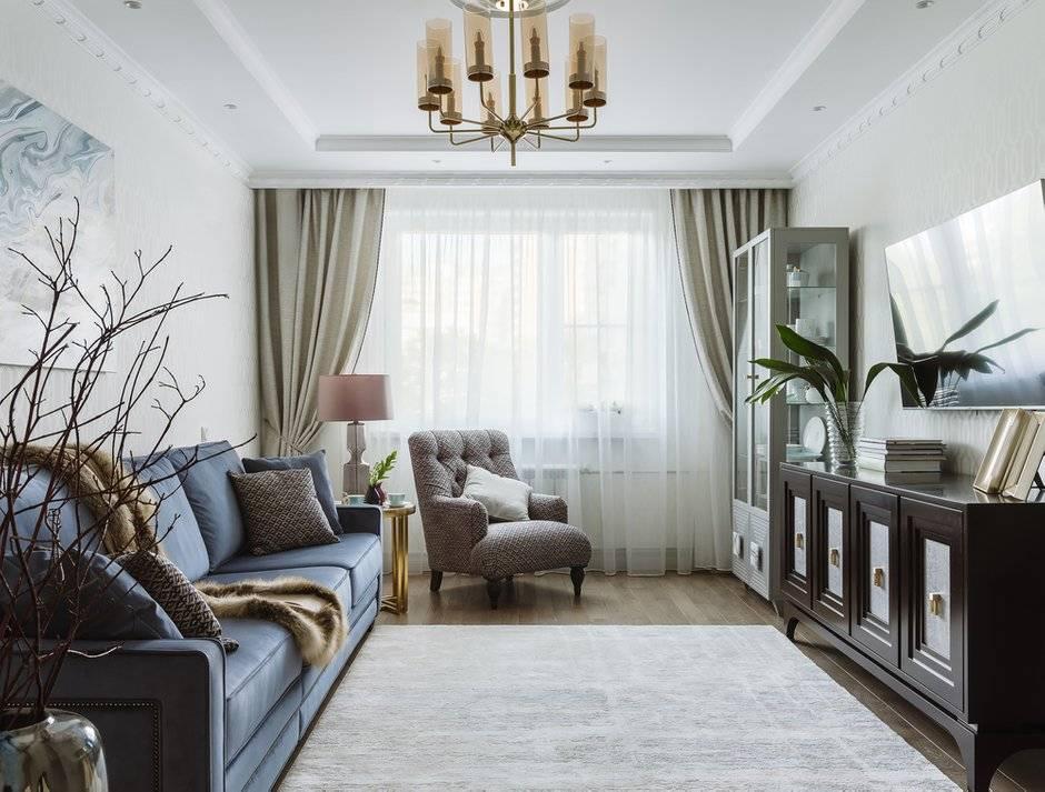Как создать дизайн гостиной в стиле неоклассика? (40 фото)