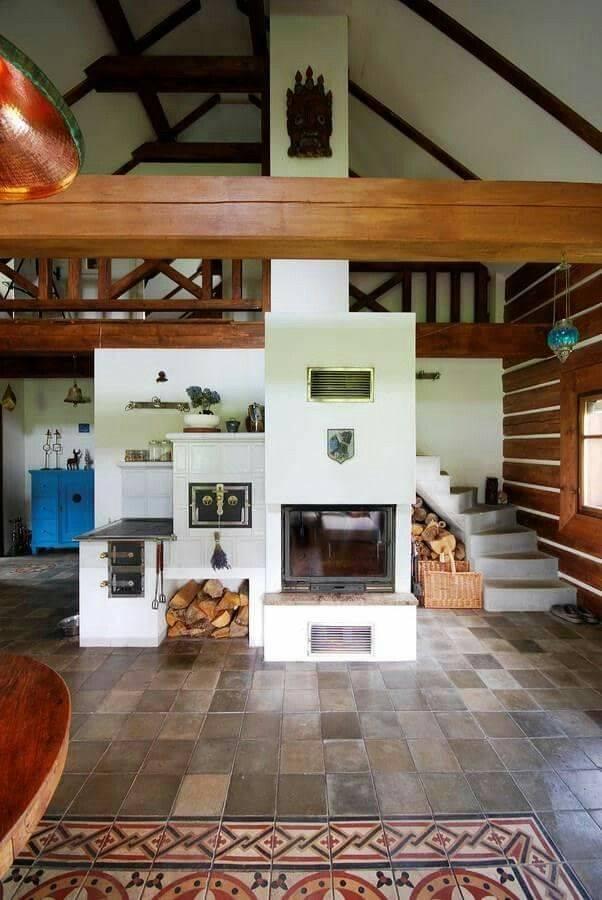 Планировка дома 6 на 6 м с печкой 69 фото русская печь в интерьере деревянного домика, печное отопление, деревенское убранство внутри