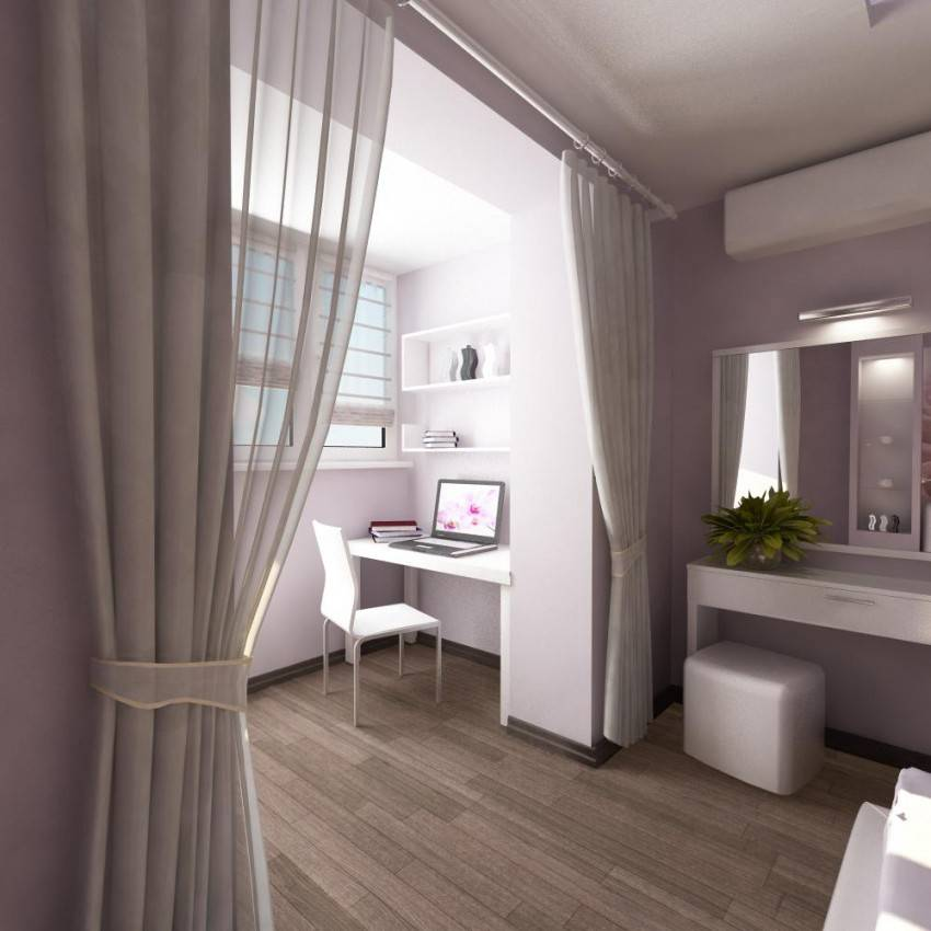 Дизайн комнаты с лоджией 50 фото совмещенных интерьеров