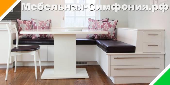 Кухонный диван: 100 фото простых, красивых и стильных идей оформления