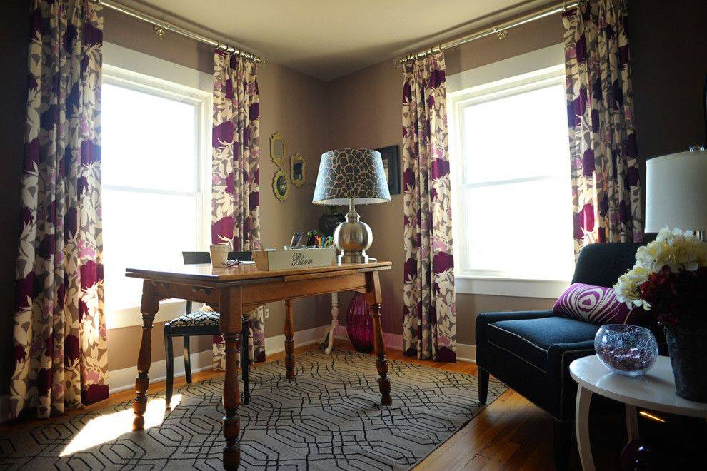 Дизайн штор для гостиной с двумя окнами (50 фото)