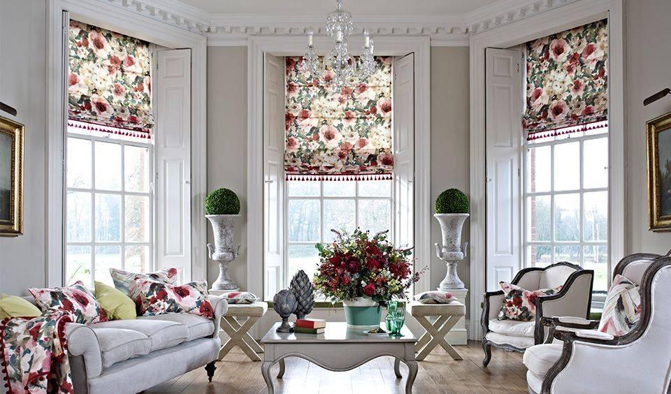 Оформление окна рулонными шторами и тюлем (33 фото): варианты сочетания, как красиво совместить