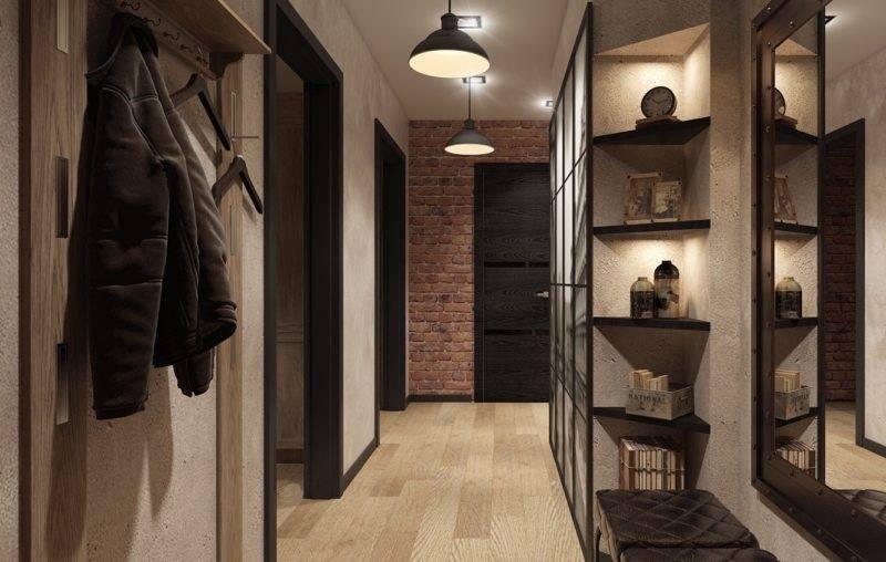 Прихожая в стиле лофт в маленькой и большой квартире: реальные фотографии