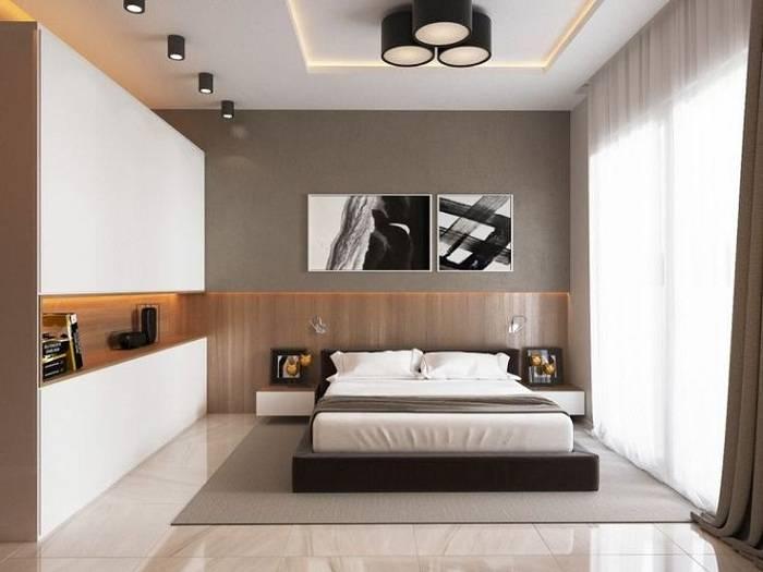Спальня в стиле модерн — особенности выбора цвета и мебели, интересные планировки, фото обзор лучших идей