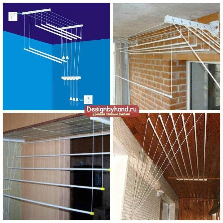 Сушилка для белья на балкон: фото и инструкции по выбору и установке сушилок