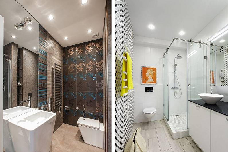Потолок в ванной: советы, как оформить и из чего сделать (120 фото идей)