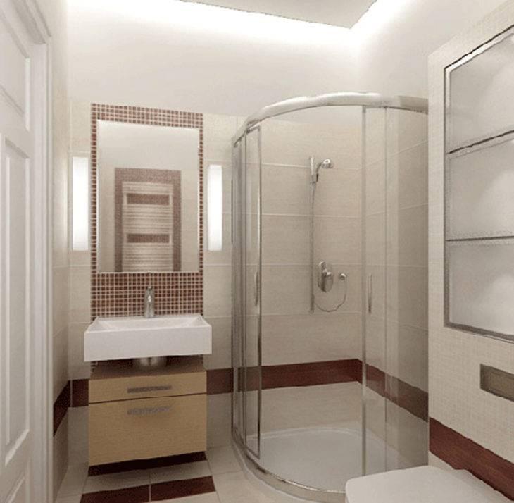 Дизайн ванной с душевой кабиной: 47 фото обустройства