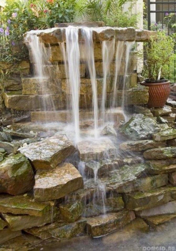 Создание декоративного водопада на участке — sad-fialok.ru — про сад и цветы