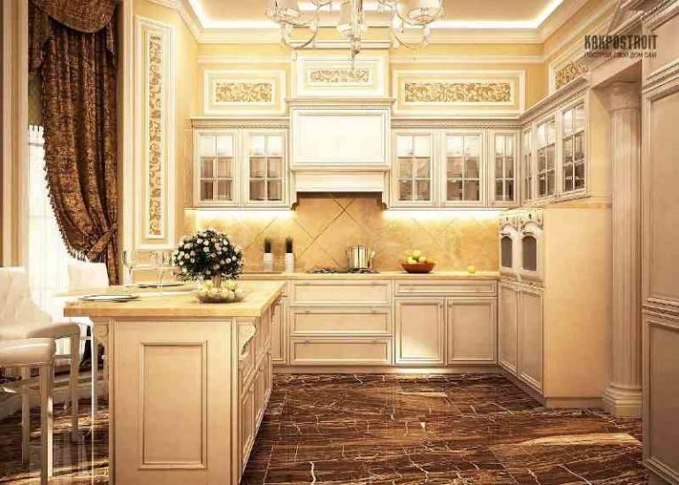 Интерьер кухни в стиле современная классика: 50 фото идей дизайна.