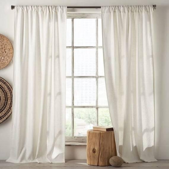 Льняные шторы - 125 фото новинок сезона из практичного льна