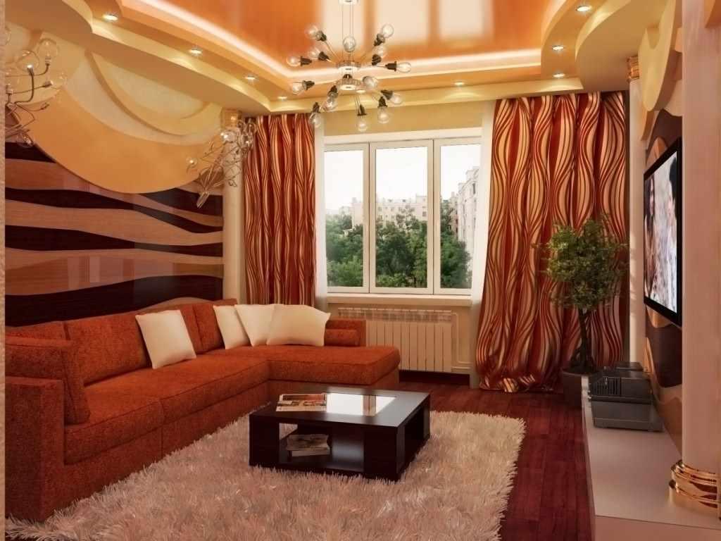 Обои для гостиной- фото лучших реальных интерьеров