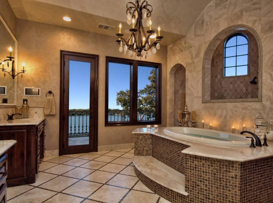 Большие ванные комнаты: примеры эксклюзивных интерьеров