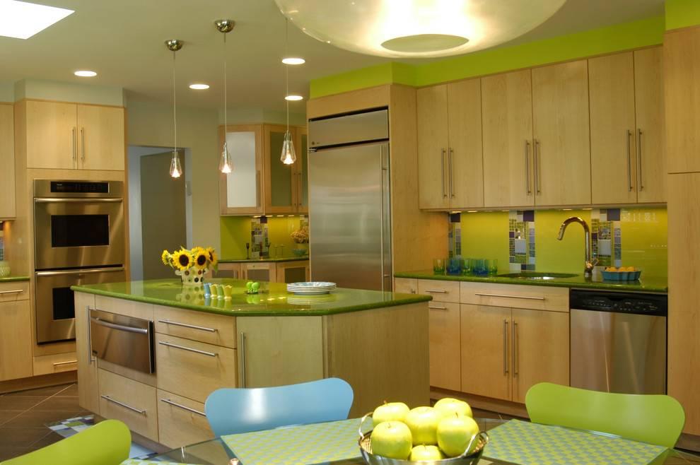 Глянцевая кухня: какой цвет выбрать, стиль (реальные фото)