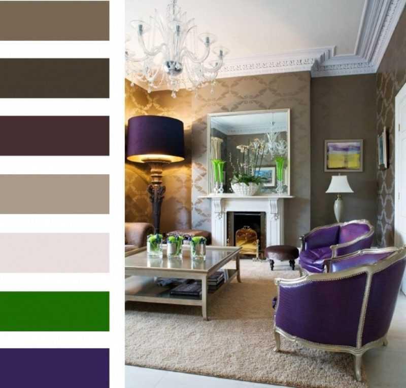 Сочетание цветов в интерьере: таблицы комбинаций оттенков и 100+ идеальных палитр для дизайна