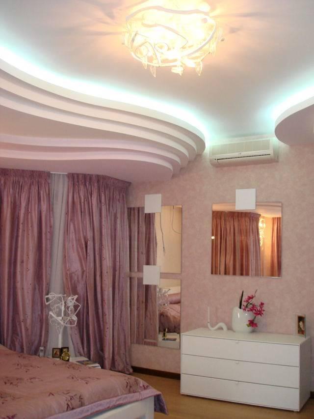 Потолки из гипсокартона для спальни: лучшие идеи оформления с примерами красивого дизайна, 150 фото вариантов