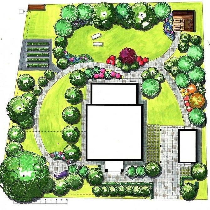 Длинный узкий участок: правильная планировка и ландшафтный дизайн - 26 фото