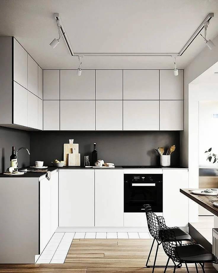 Уютный минимализм на кухне вашей мечты - 101 фото пример