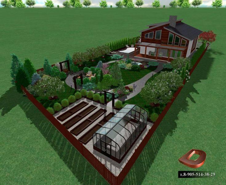 Ландшафтный дизайн участка площадью 8 соток своими руками: особенности планировки и зонирования