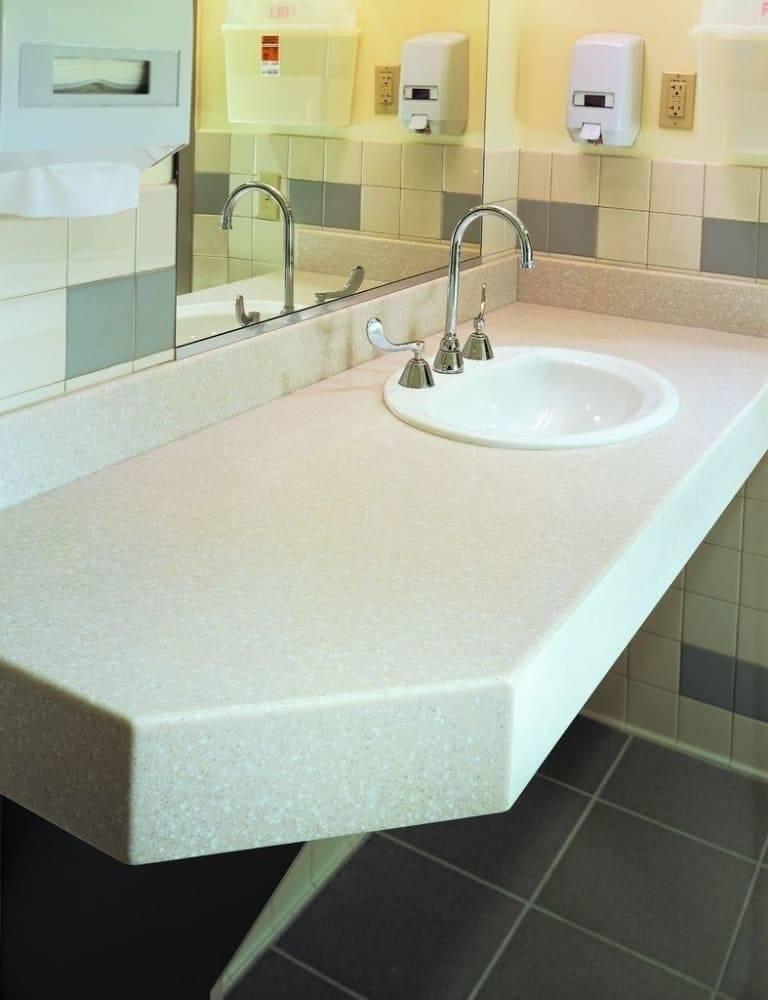 Столешницы для ванной из дерева и камня - какую выбрать столешницу под раковину?   дизайн и интерьер ванной комнаты