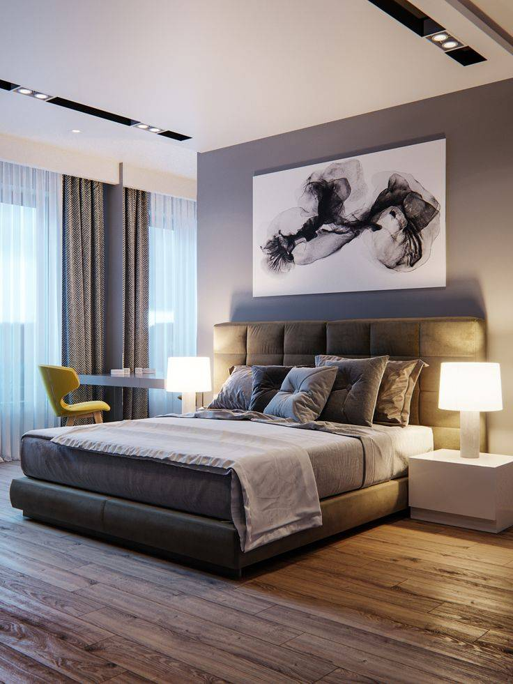 Модерн минимализм спальни, дизайн интерьера спальни в стиле хай тек