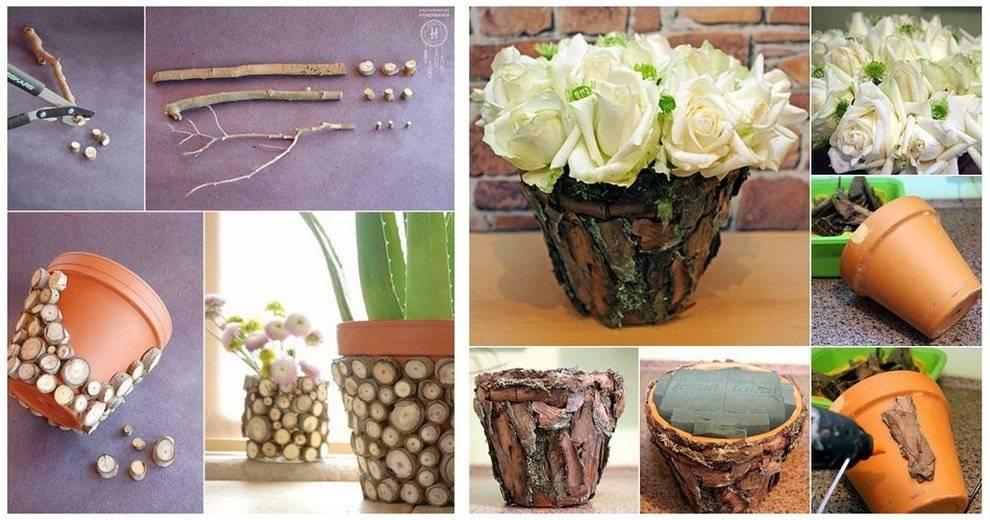Кашпо для цветов из дерева своими руками