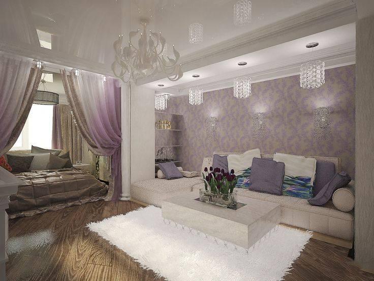 Спальня и гостиная в одной комнате: 108 фото идей зонирования | «покажу»