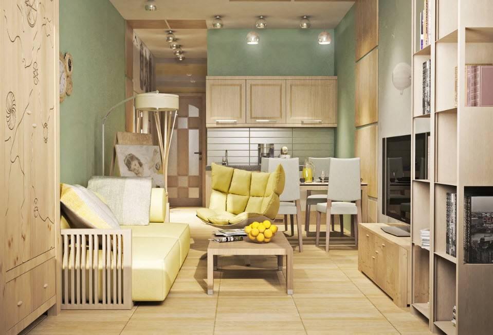 Дизайн маленькой квартиры-студии (72 фото): современный интерьер очень маленькой квартиры-студии с кухней 14 кв. м.