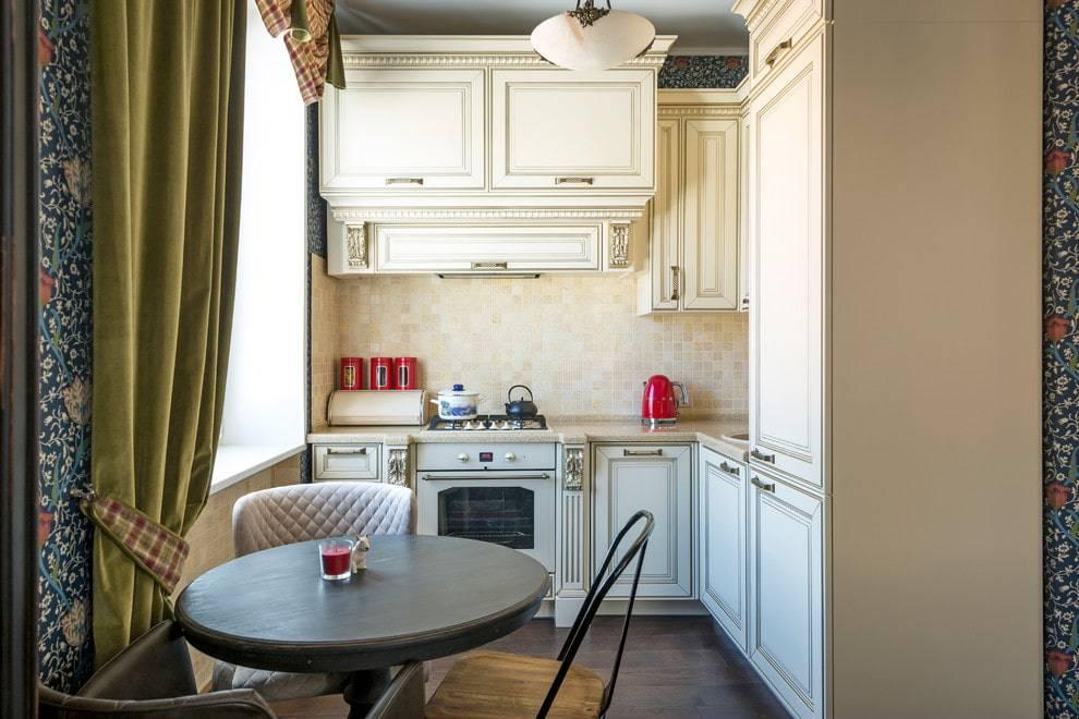 Дизайн кухни 9 кв м с балконом, холодильником и диваном: проект планировки в современном стиле  - 39 фото
