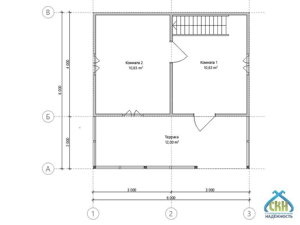 Проект дома 8 на 6 м - варианты планировок (50 фото): двухэтажный и одноэтажный дачный коттедж с туалетом и санузлом