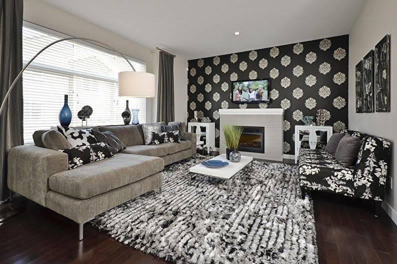 Черно-белый интерьер: идеи для оригинального дизайна в квартире