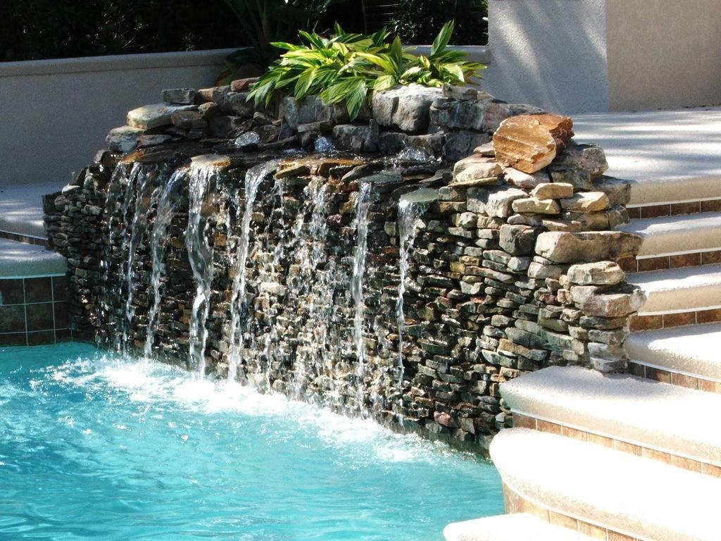 Как сделать декоративный фонтан и водопад