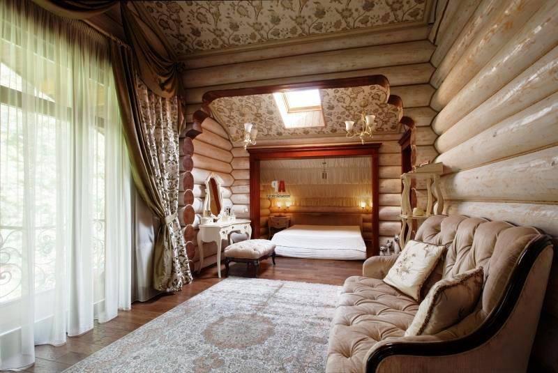 Интерьер деревенского дома: оформление в различных стилях кантри, с печкой или камином