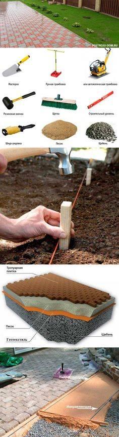 Как самостоятельно положить тротуарную плитку на песок: технология укладки на сухую смесь своими руками, какой фракции должен быть песок