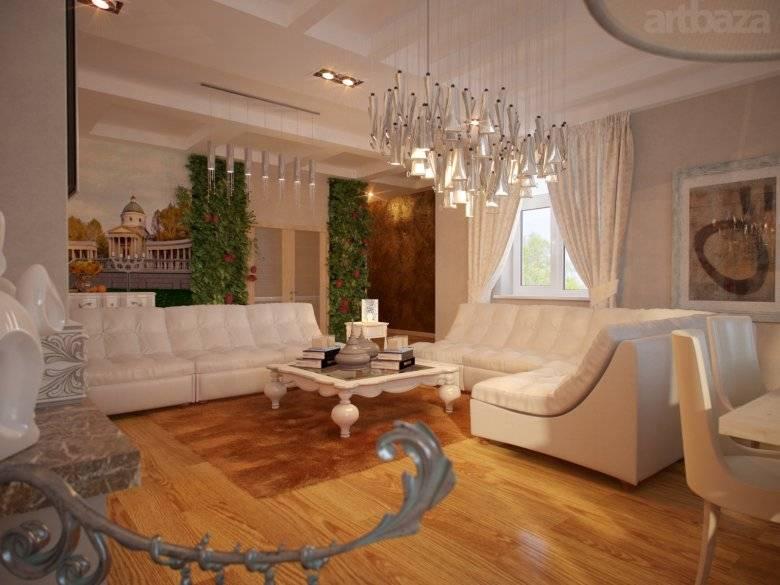 Дизайн интерьера загородных домов и коттеджей: 36 фото идей