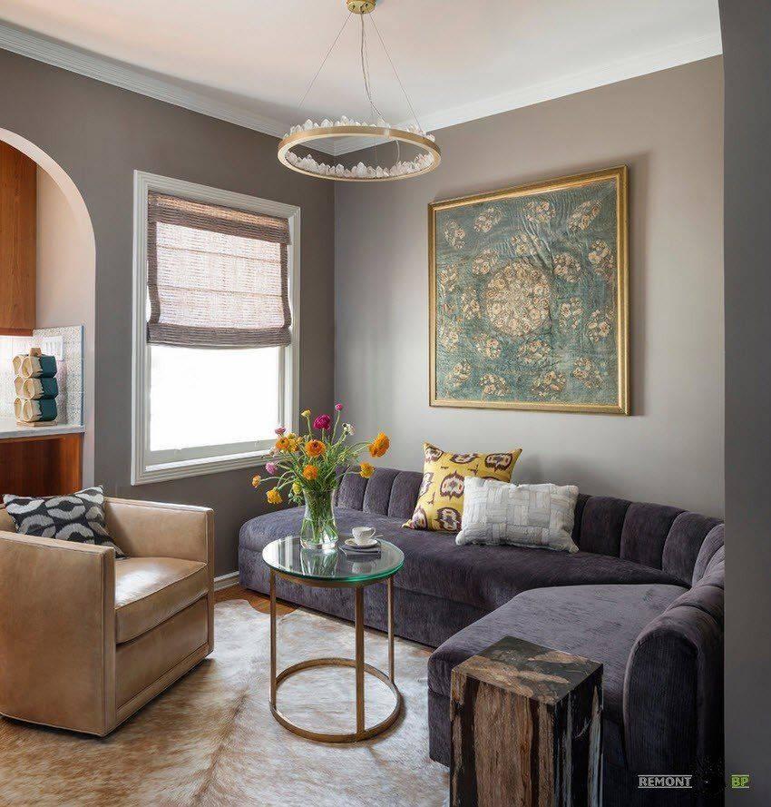 Дизайн комнаты: как обустроить интерьер маленькой и большой комнаты для двоих взрослых с диваном  - 40 фото