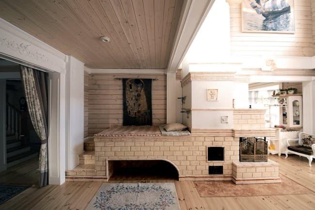 Русская печь в интерьере современного загородного дома. русские печи в современном интерьере частных домов
