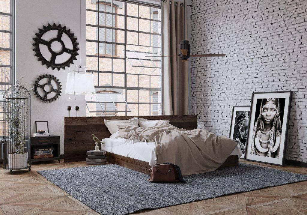 Дизайн интерьера в стиле лофт: отделка стен кухни-гостиной, зала, элементы декора  - 55 фото